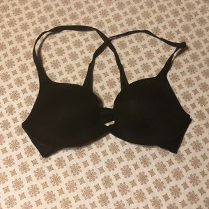 Front close cross back push up bra